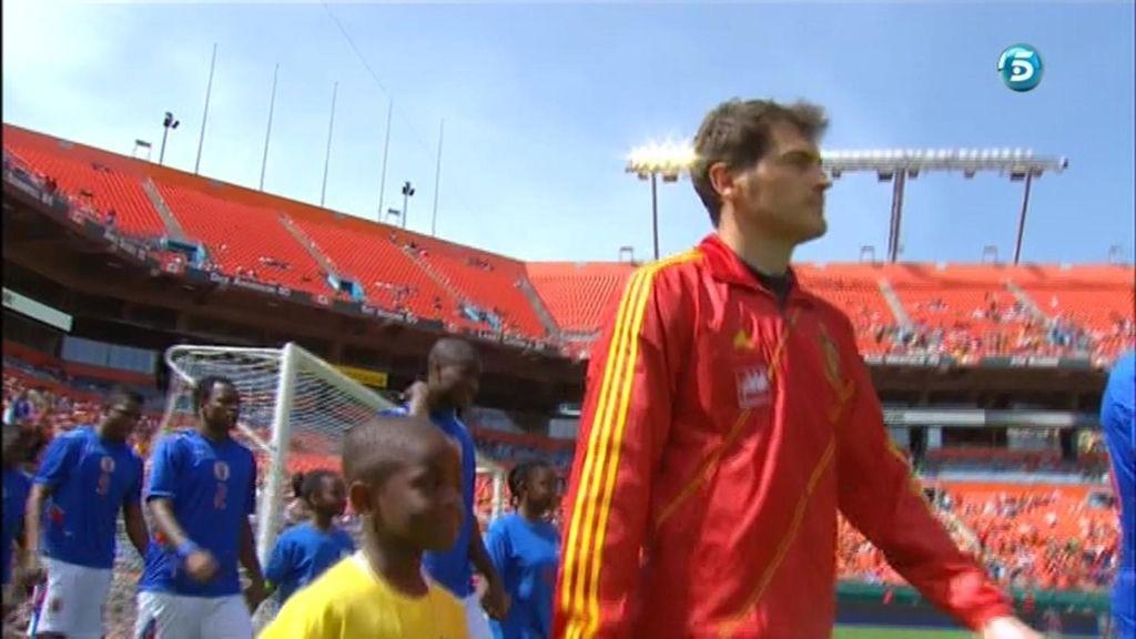 Iker Casillas fue titular ante Haití