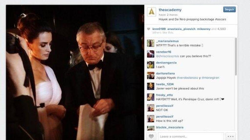 La Academia de Cine de Estados Unidos confunde en su Instagram a Penélope Cruz con Salma Hayek
