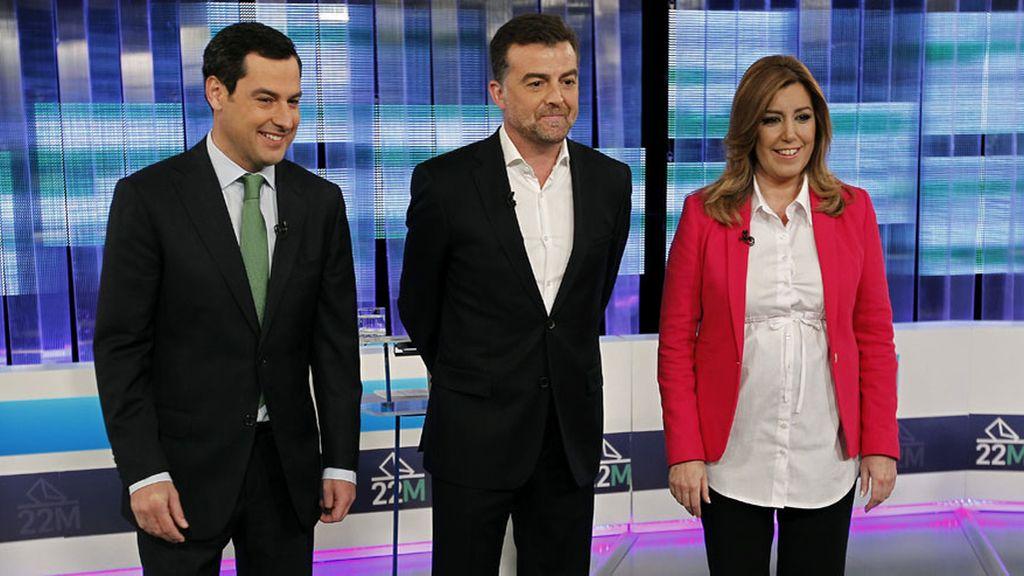 Debate electoral andaluz a tres bandas