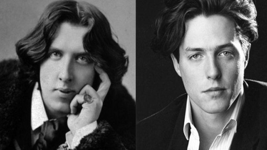 El escritor Oscar Wilde y Hugh Grant
