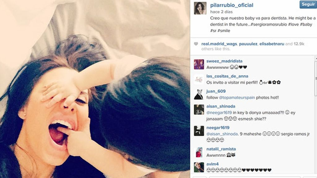 ¿El hijo de PIlar Rubio y Sergio Ramos va para dentista?