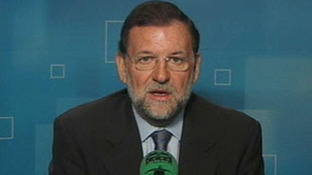Declaraciones del líder del PP, Mariano Rajoy, durante la entrevista. Vídeo: ATLAS.