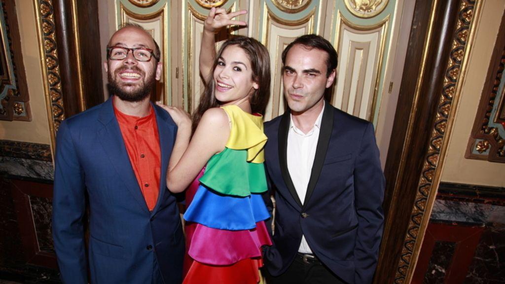 Tristán y Cósima Ramírez junto a Ion Fiz