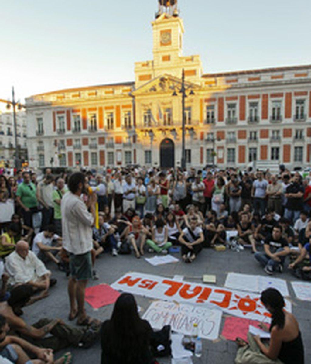 Los indignados han vuelto estos dias con sus protestas. Foto: EFE