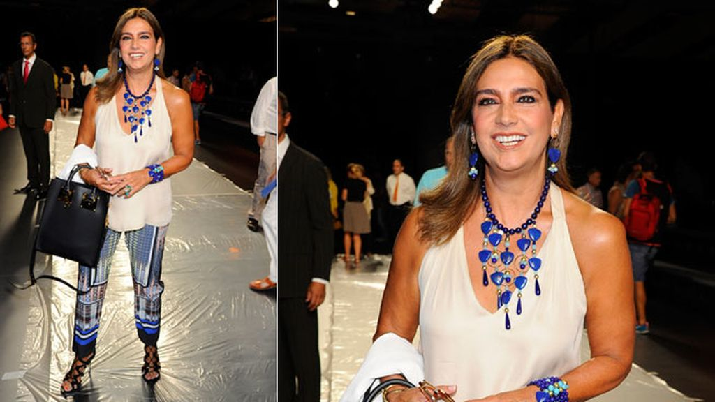 Marina Danko en el desfile de Juanjo Oliva