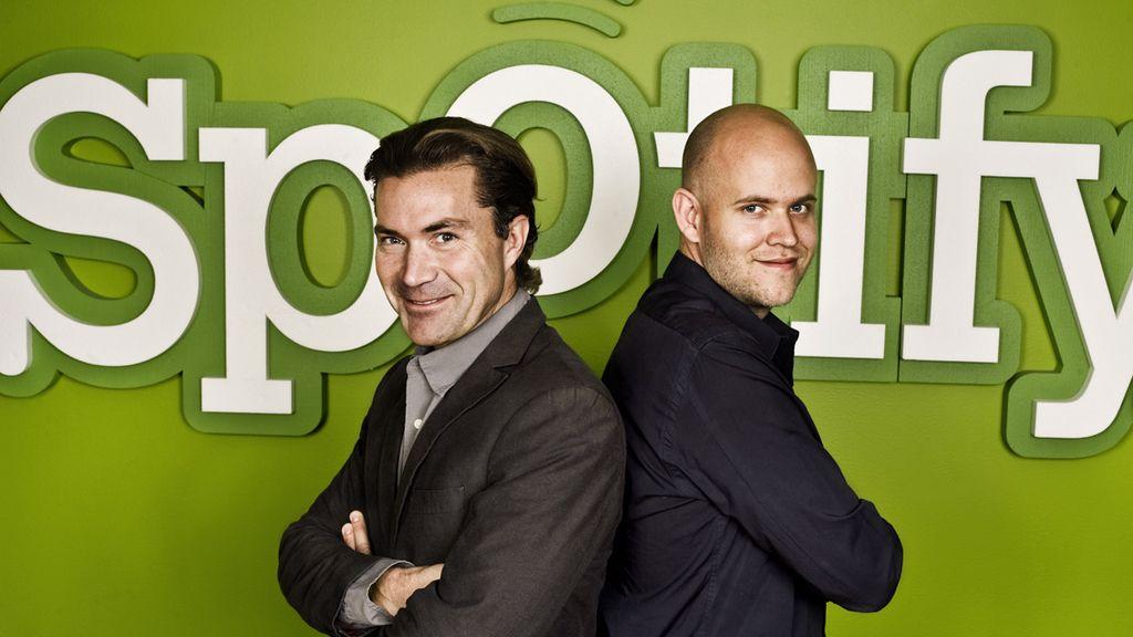 Daniel Ek y Martin Lorentzon, creadores de Spotify