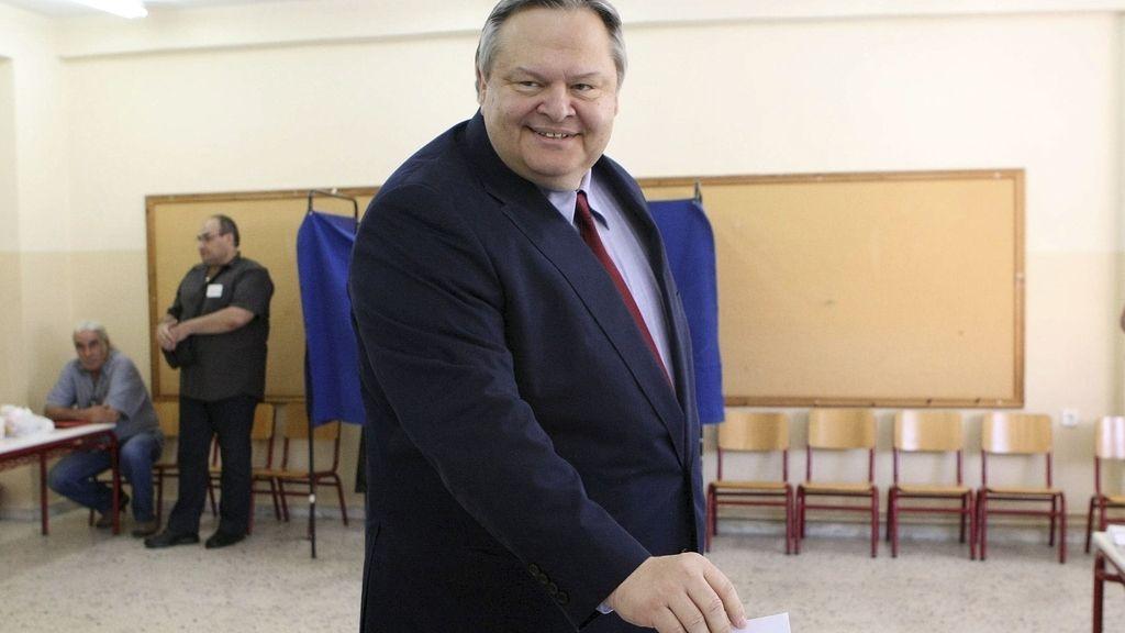 El cabeza de lista socialdemócrata, Evangelos Venizelos