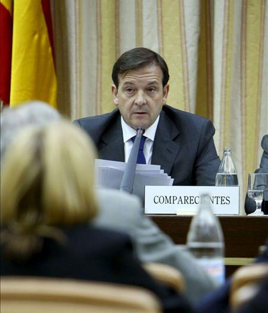 El director del Centro Nacional de Inteligencia (CNI), Alberto Sáiz, durante su comparecencia en la Comisión de Defensa del Congreso. EFE/Archivo