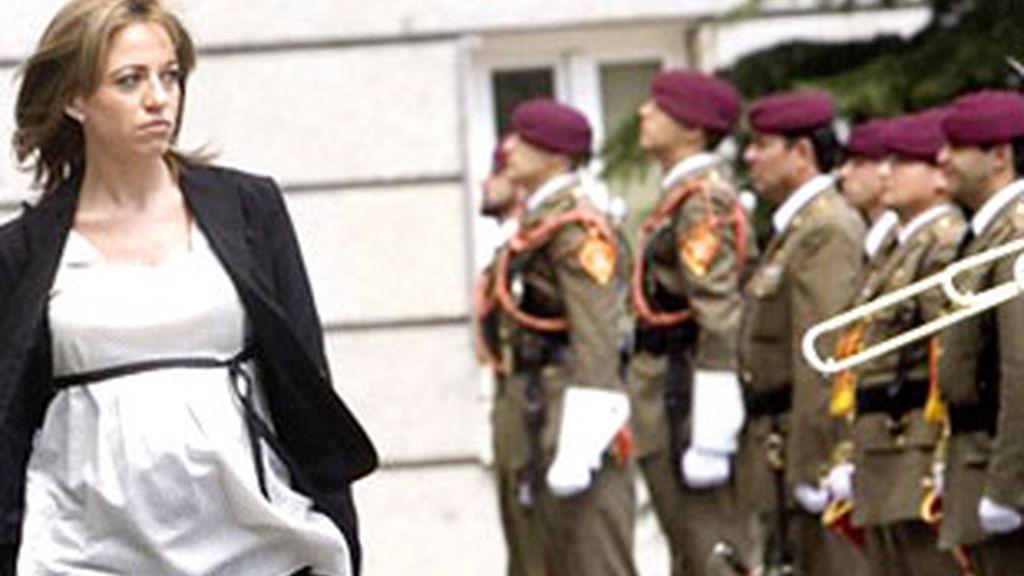 La Ministra de Defensa Carmen Chacón.