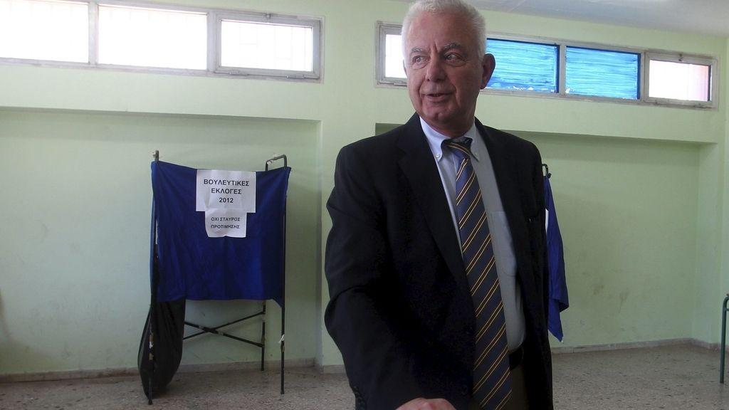 El primer ministro interino de Grecia, Panayotis Pikrammenos