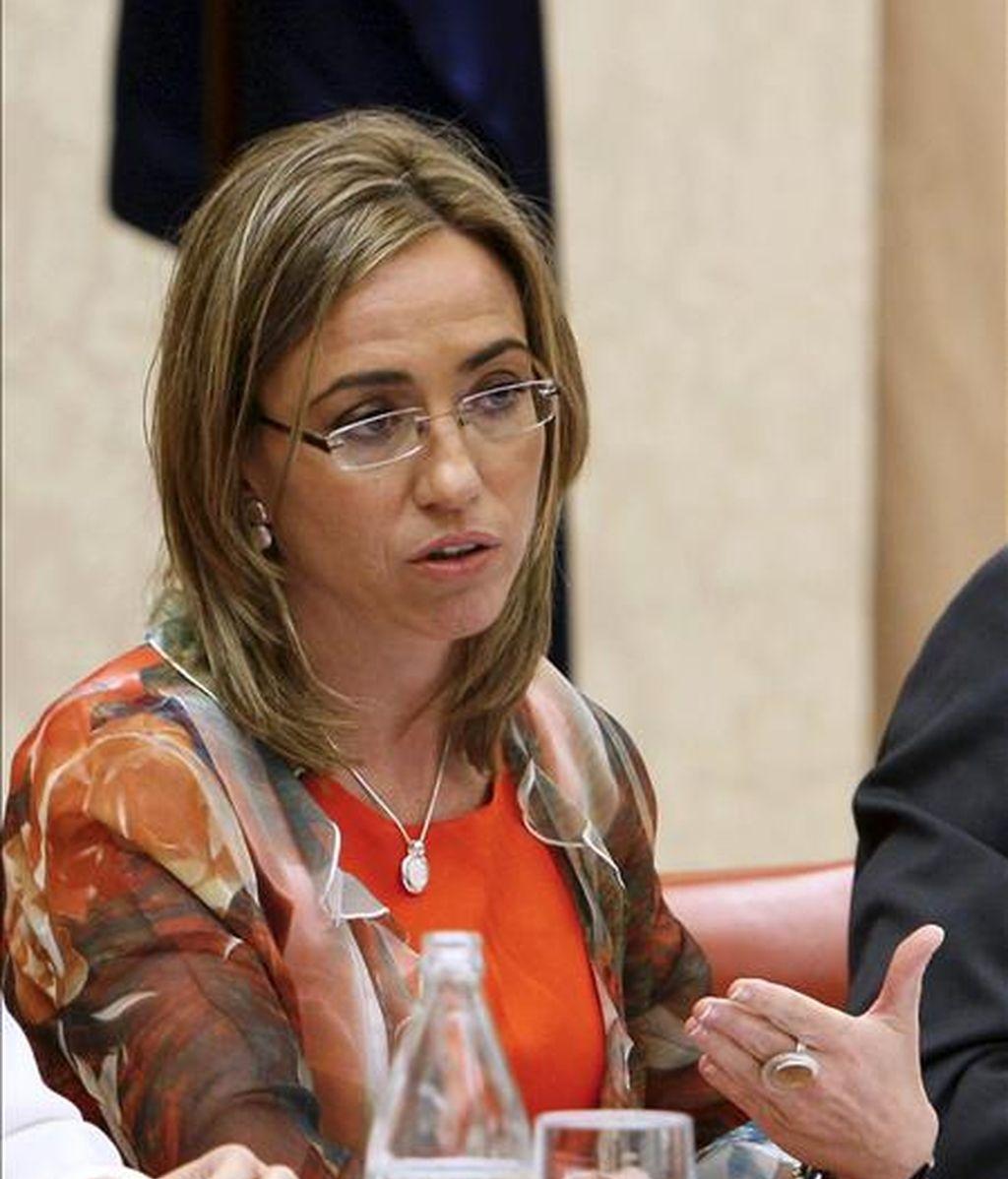 La ministra de Defensa Carme Chacón. EFE/Archivo