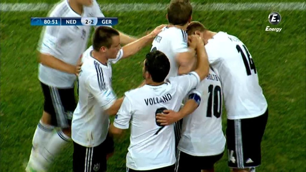 Alemania empató el partido a diez minutos del final.