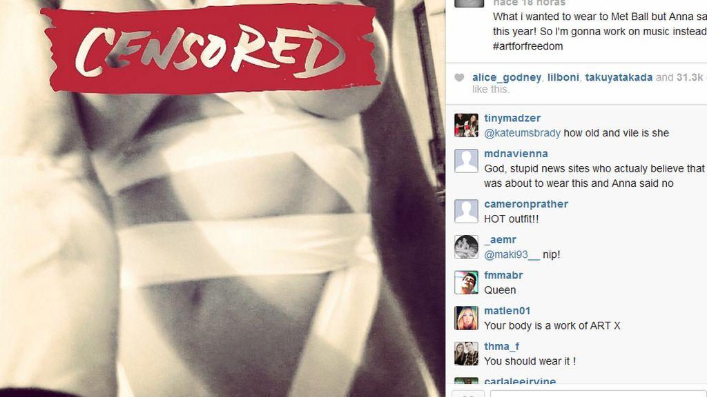 El vestido que Anna Wintour censuró a Madonna para los MET