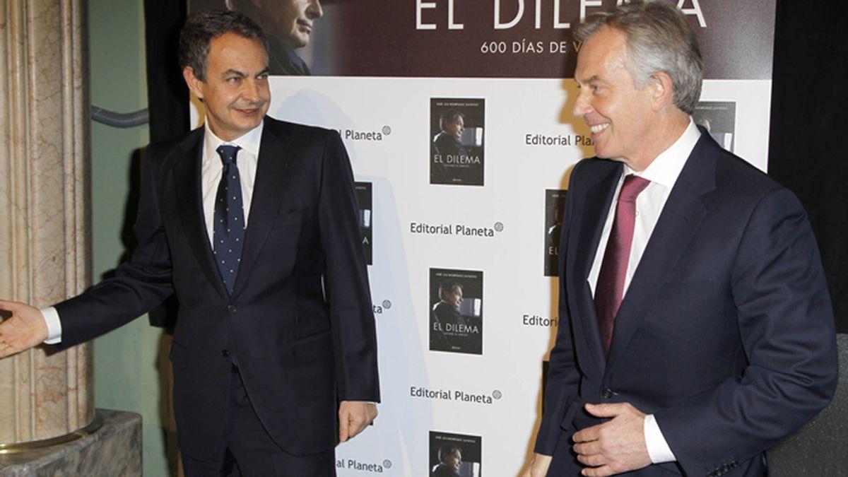 Tony Blair presenta el libro de José Luis Rodríguez Zapatero