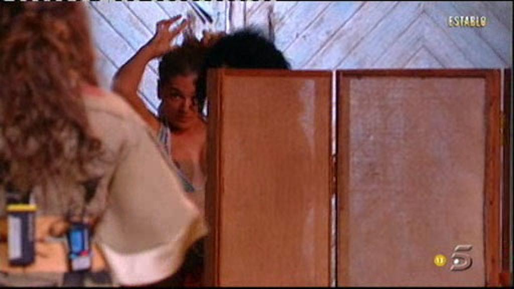 Mª Ángeles ha preferido no meterse en el jacuzzi