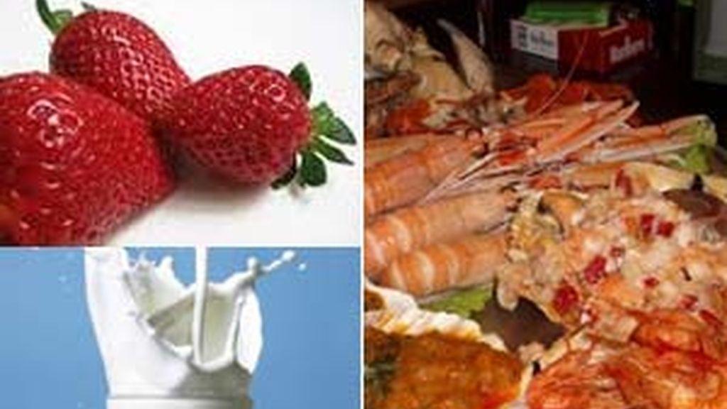 Fresas, leche y marisco predisponen para tener migrañas.
