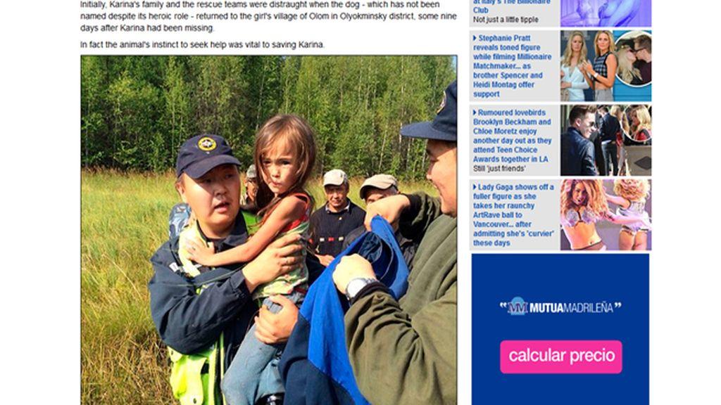 Una niña de 4 años sobrevive sola 12 días en el bosque
