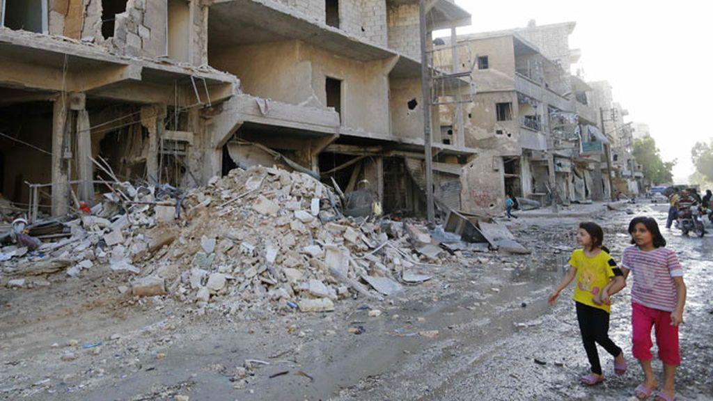 Alepo, una ciudad destruida por los combates