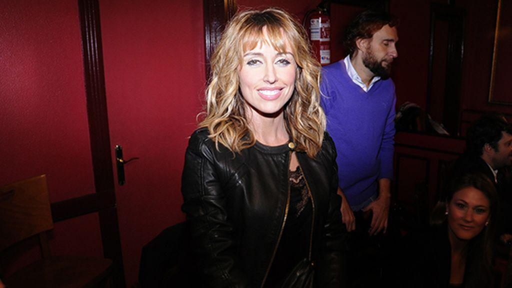 Emma García, uno de los populares rostros de Telecinco que acudió al estreno