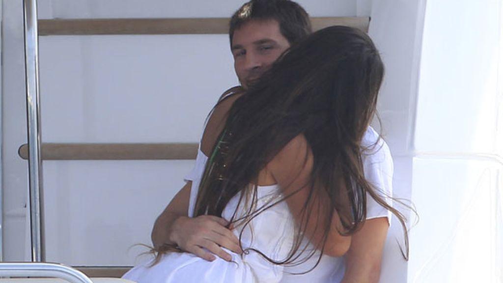 Messi y Antonella Roccuzzo