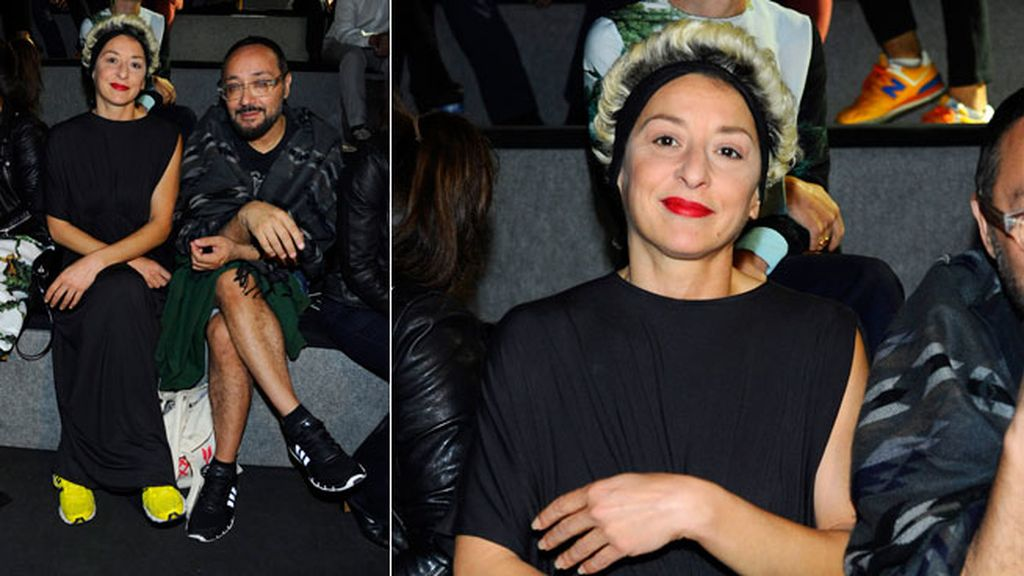 Mariola Fuentes con un original 'look' capilar