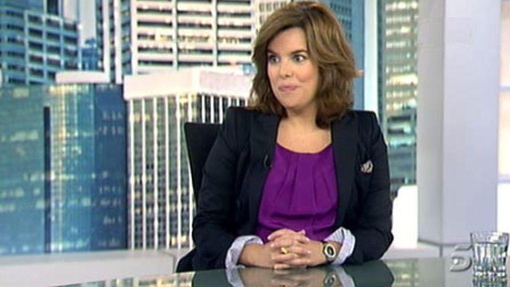 La portavoz del PP en el Congreso, Soraya Sáenz de Santamaría.