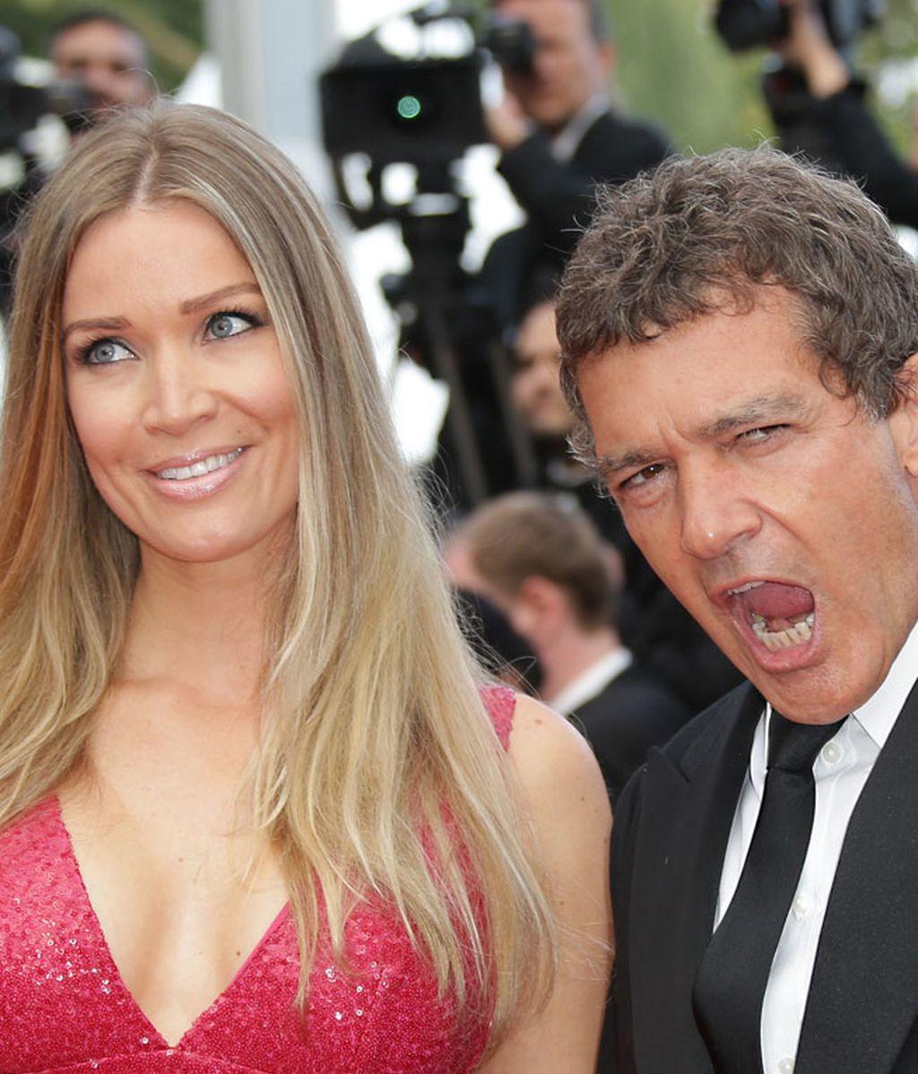 Antonio Banderas presume de novia en Cannes