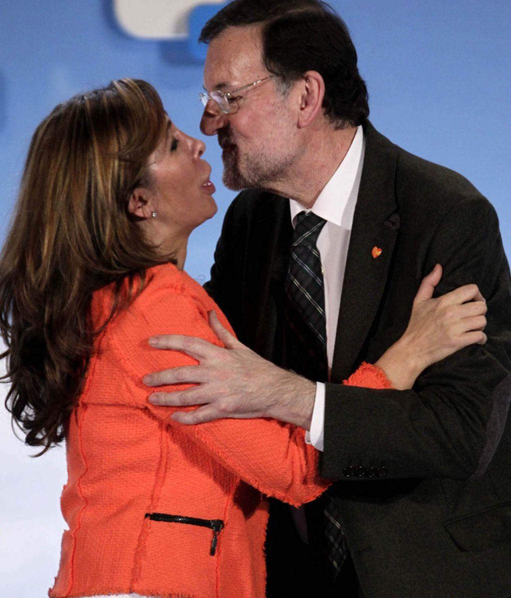 Mariano Rajoy con Alicia Sánchez-Camacho en un mitin del PP en Barcelona