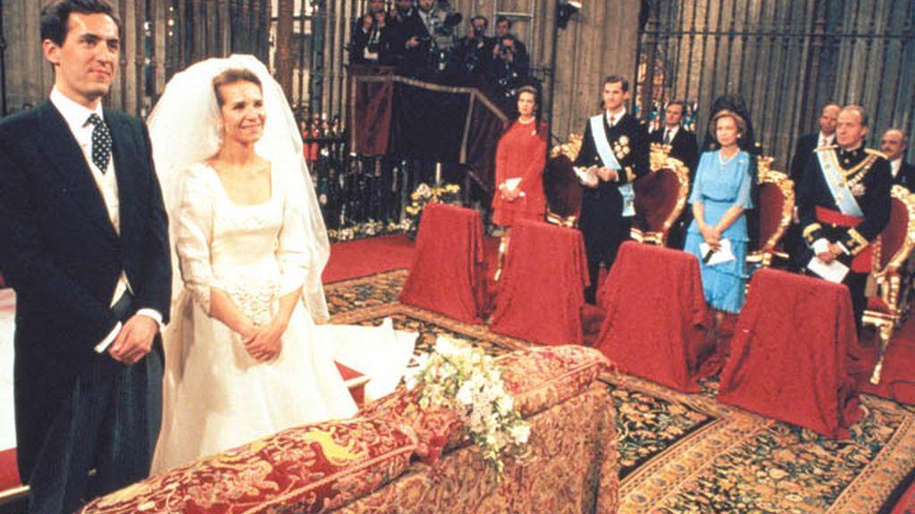 Boda de la Infanta Elena en 1995