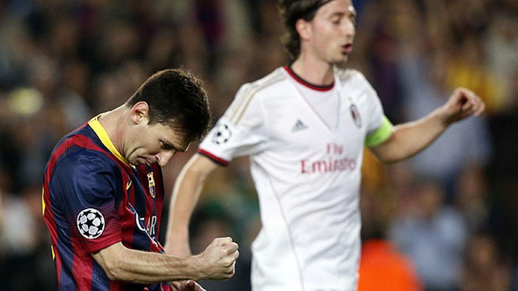 Messi volvió a marcar con el Barça