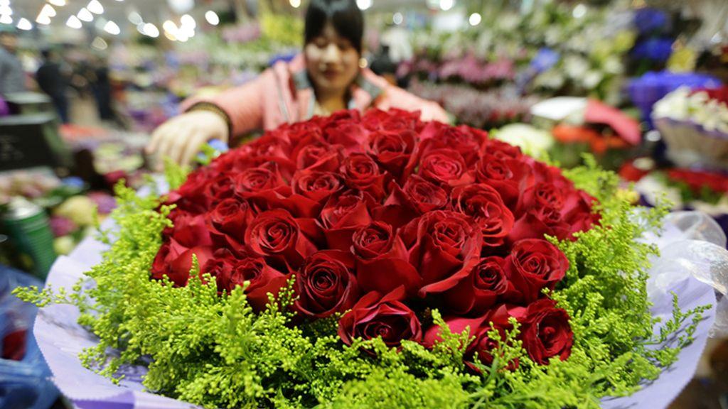 La celebración de San Valentín también llega a China