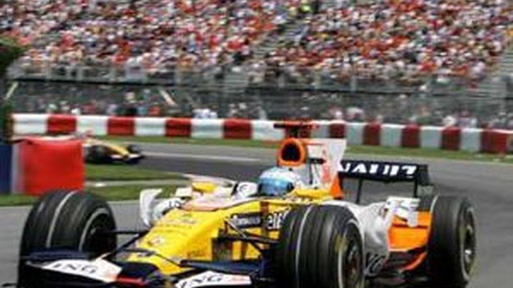 Fernando Alonso durante el Gran Premio de Canadá. Foto: EFE