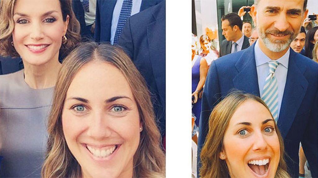 'Selfies' reales los de nuestra compañera de Cazamariposas Nuria Chavero