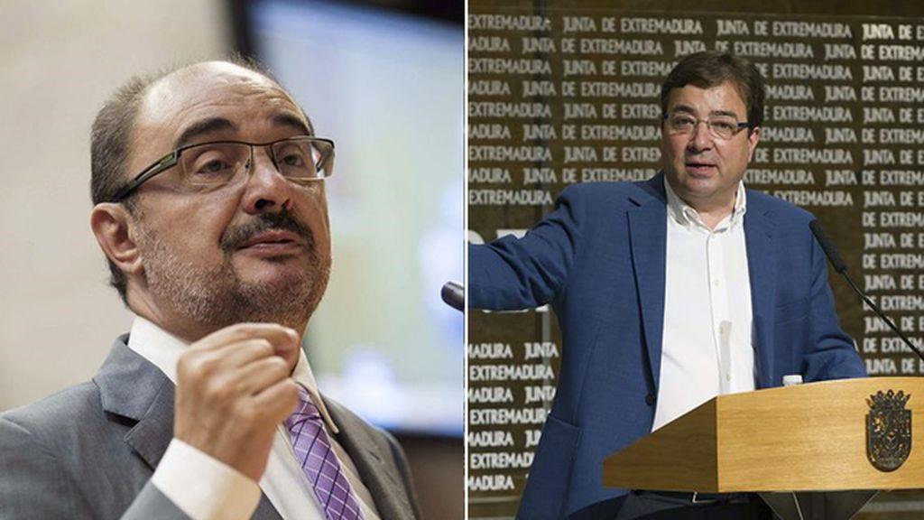 Javier Lambán y Guillermo Fernández Vara