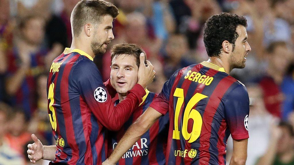 Messi y Piqué golean al Ajax
