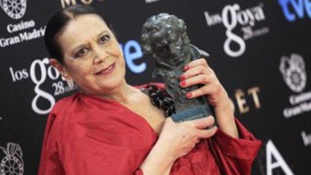 Terele Pávez recibe el Goya