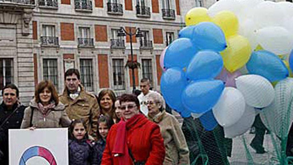 Una concentración de la plataforma de los niños robados en Madrid