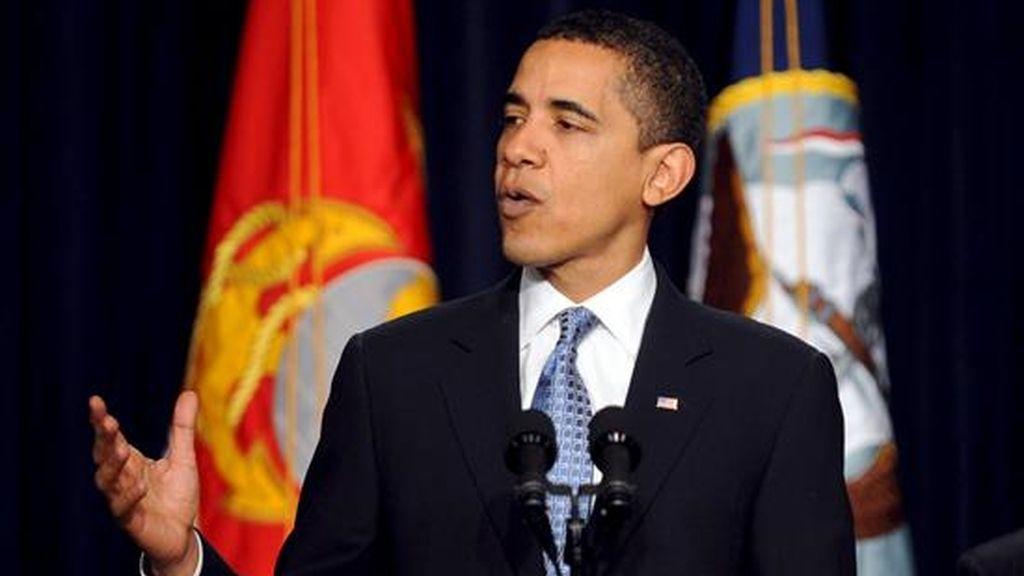 El presidente de los Estados Unidos, Barack Obama, ofrece unas declaraciones en el edificio edificio Eisenhower, que forma parte del complejo presidencial, en Washington, EE.UU.EFE