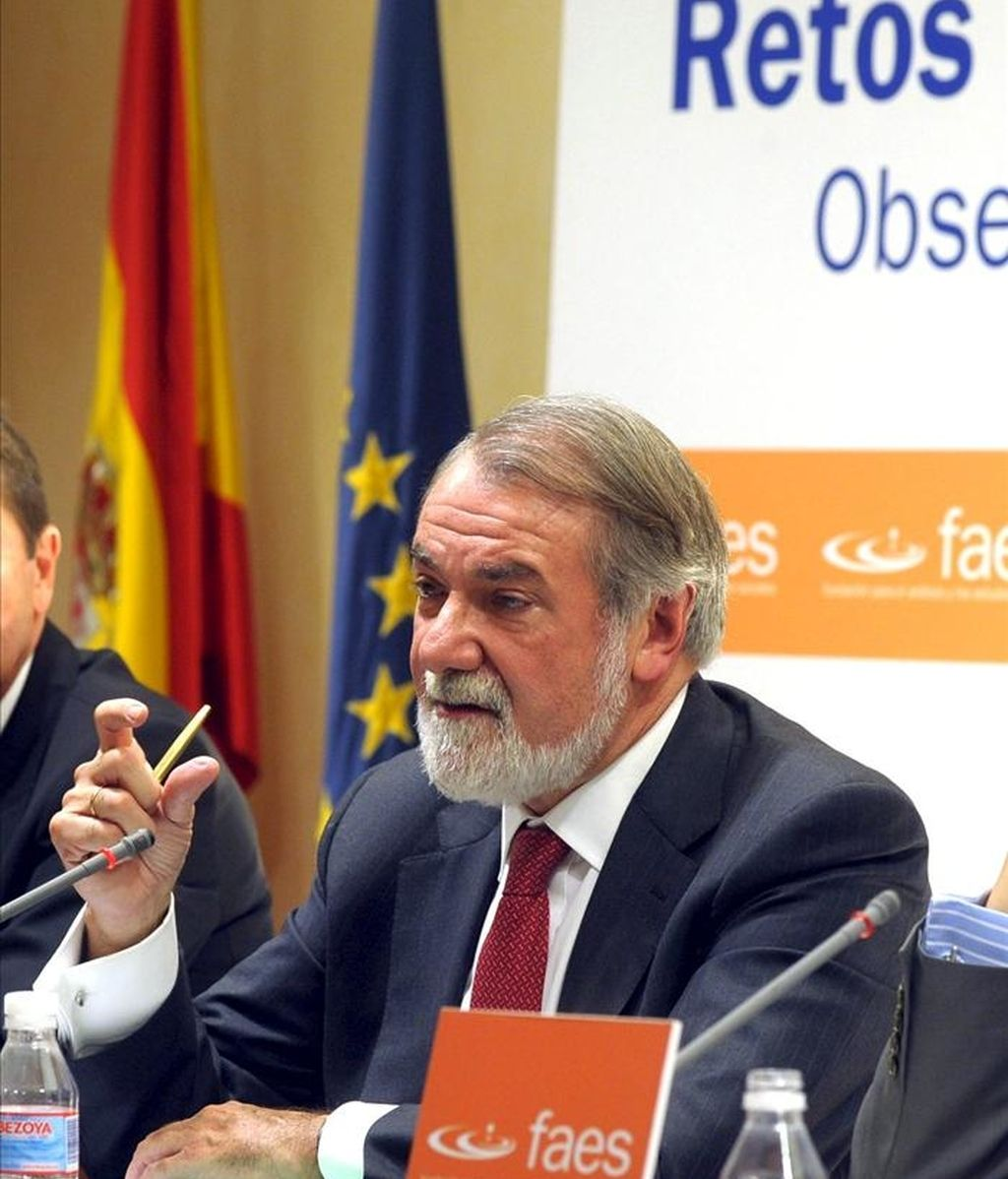 El portavoz del PP en el Parlamento Europeo, Jaime Mayor Oreja. EFE/Archivo