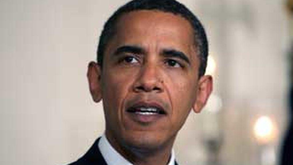 El presidente de Estados Unidos, Barack Obama, habla en el Sala de Recepciones Diplomáticas de la Casa Blanca en Washington DC (EEUU). Foto: EFE