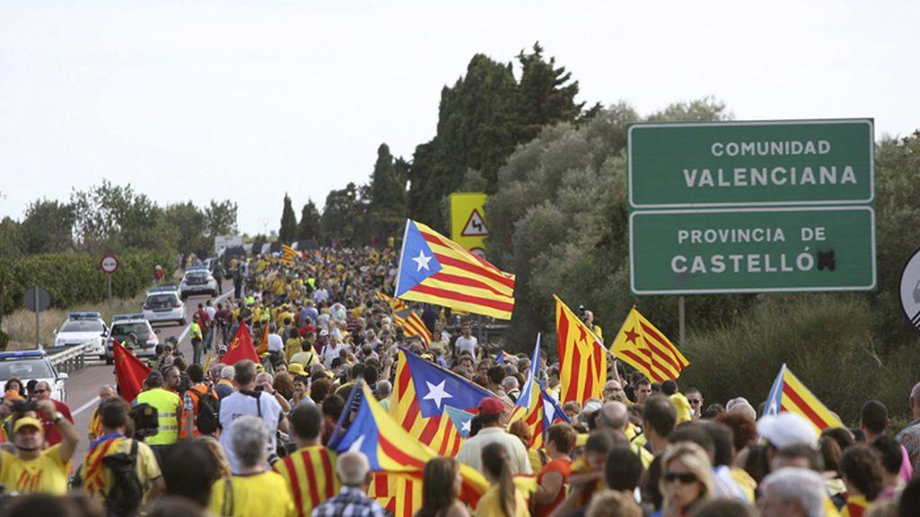La Vía Catalana ha rebasado los límites de Cataluña adentrándose en Valencia
