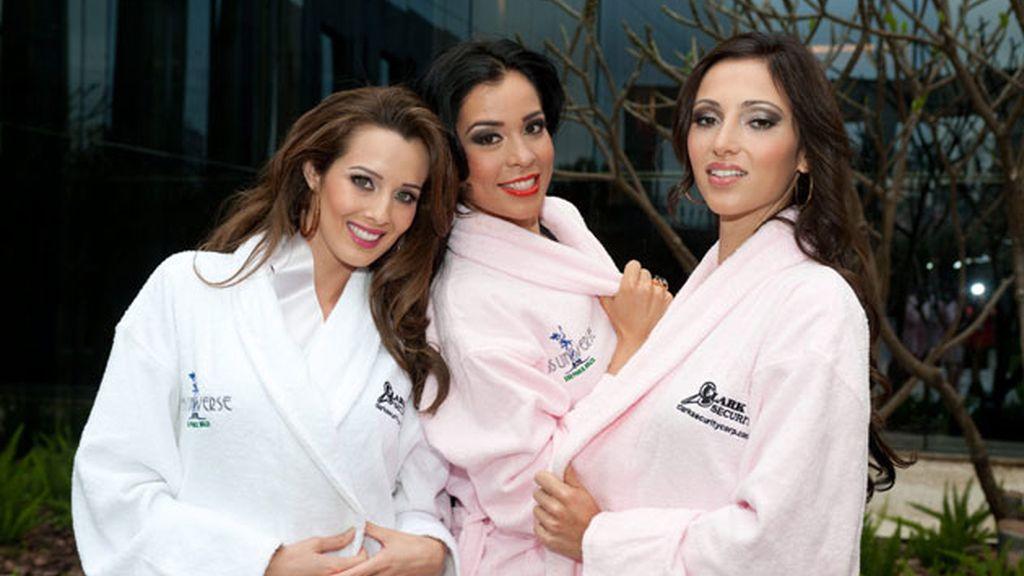 Miss Nicaragua, Miss Guatemala, y Miss Alemania