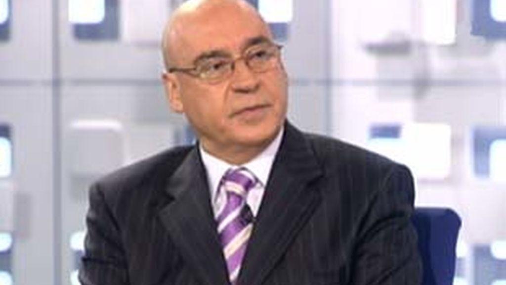 El presidente del Senado durante la entrevista en La Mirada Crítica de Telecinco. Vídeo: Informativos Telecinco.