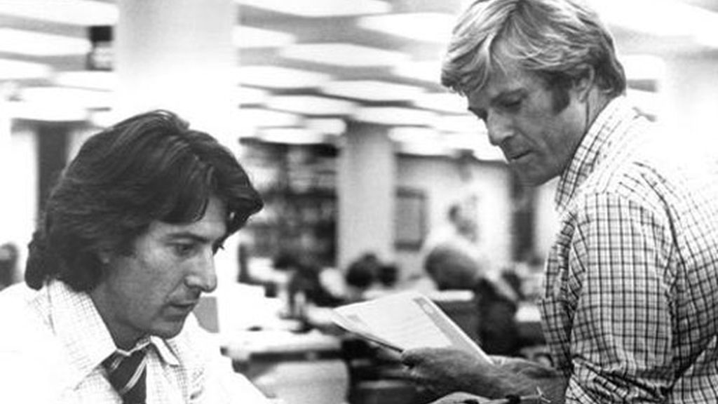 'Todos los hombres del presidente', con Dustin Hoffman