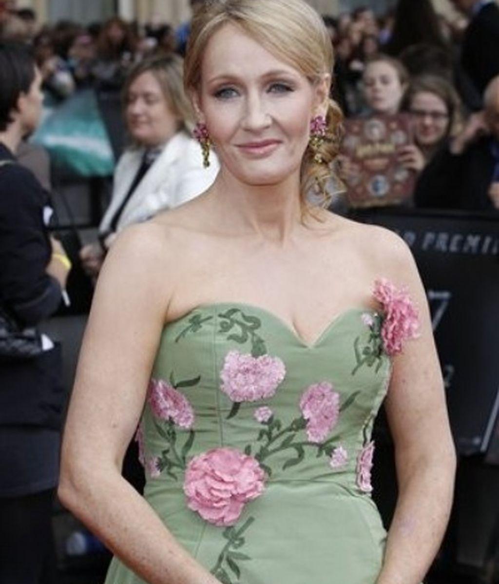 La autora de los libros, JK Rowling, en el estreno