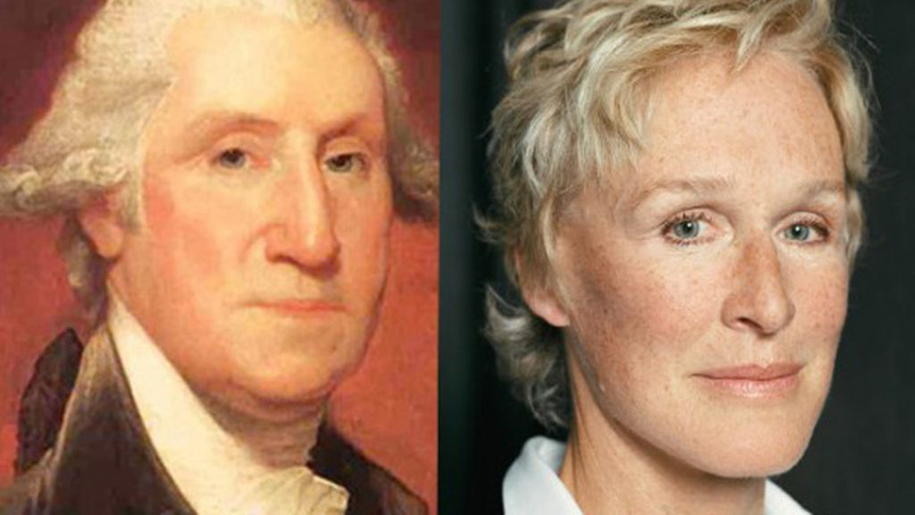 George Washington y Glenn Close