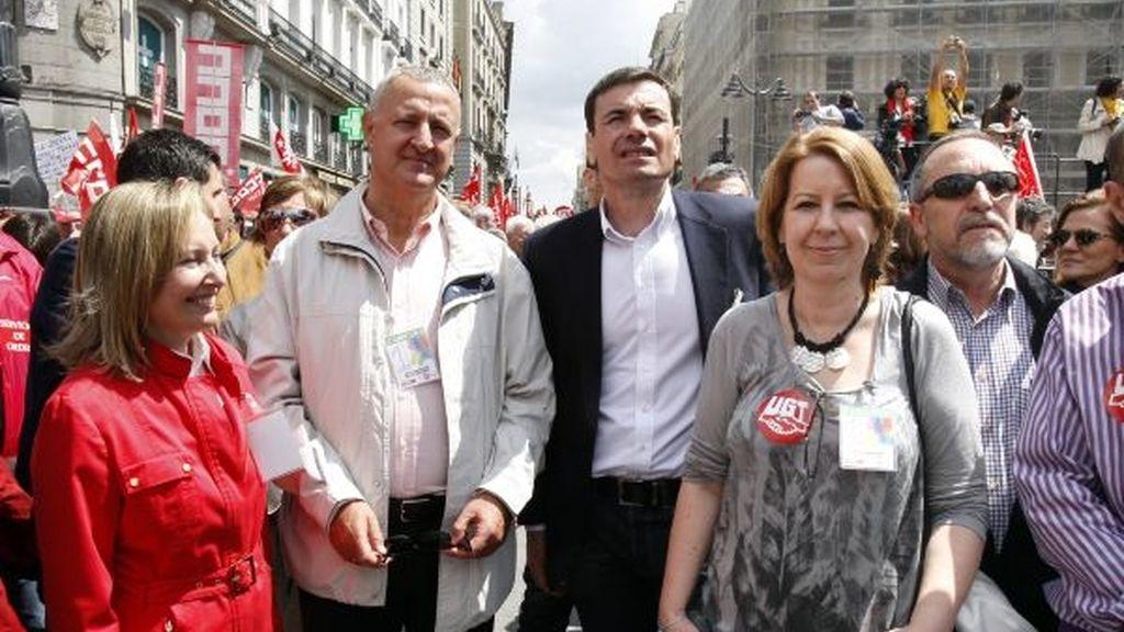 Miembros del PSOE en la marcha de Madrid