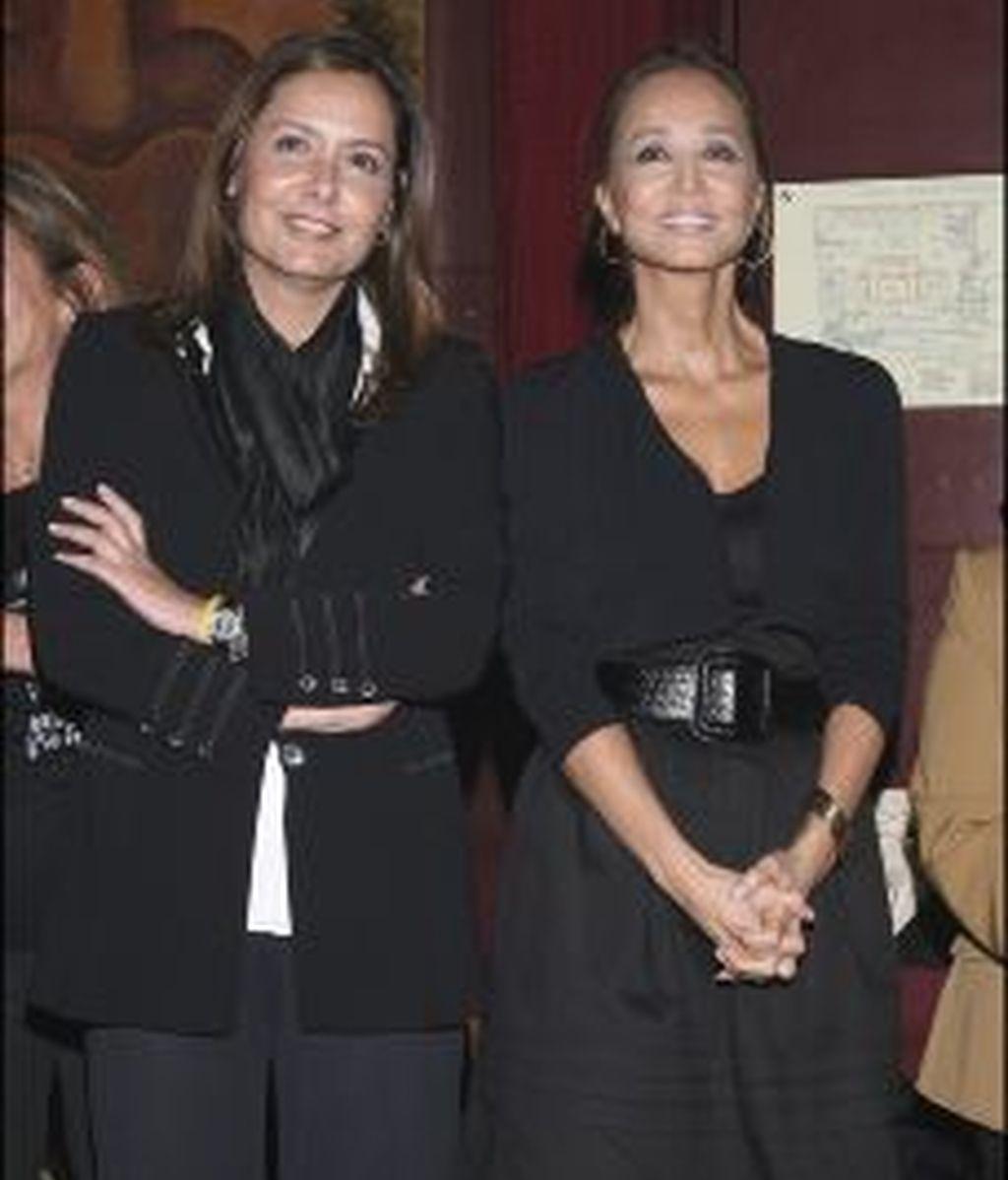 Isabel Preysler, junto a su hermana Beatriz. GTRES