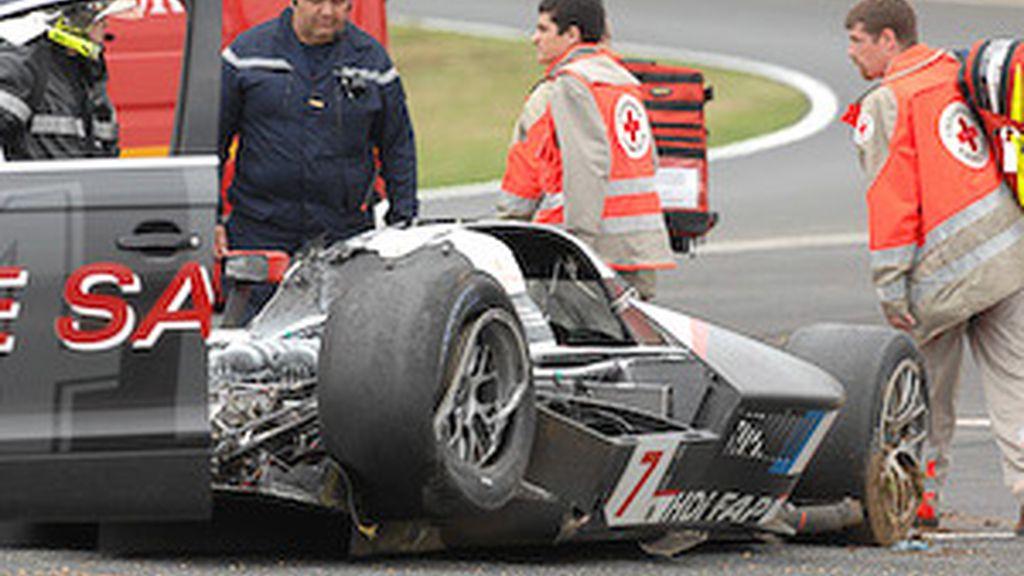 Lobato comenta el accidente de Marc Gené. Vídeo: Informativos Telecinco.