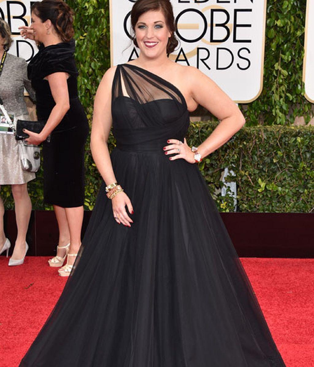 Allison Tolman en la alfombra roja de los Globos de Oro